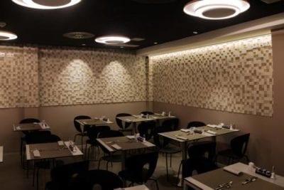 Sistema de luces para comedor hotel