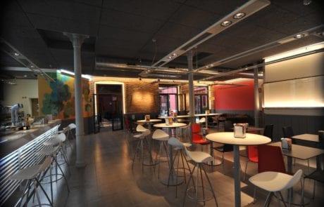 iluminación moderna para cafetería