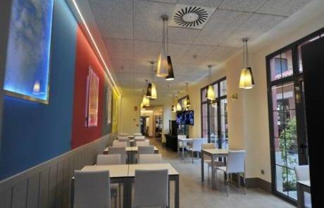 Lámparas colgantes o lámparas suspendidas utilizadas para proyecto de iluminación el Hotel