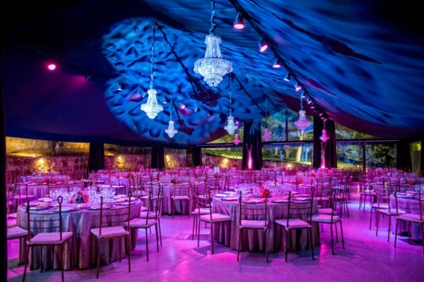 Iluminación de salón de bodas, proyectos de iluminación personalizados