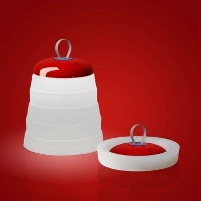 Iluminación de diseño roja