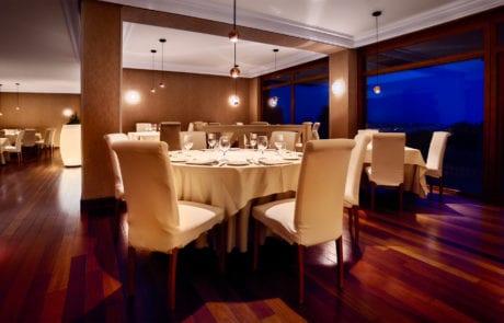 sistema de luz para restaurante