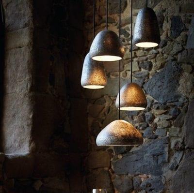Iluminación en suspensión moderna