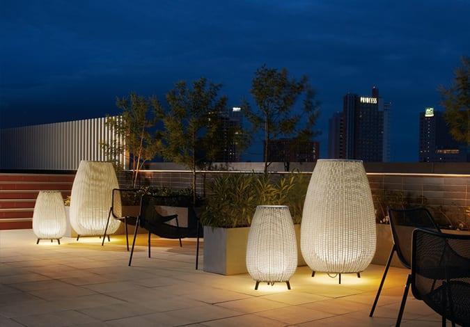 iluminación exterior e iluminación para jardines