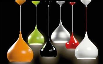 Venta de lámparas colgantes de diferentes tamaños y colores Valladolid