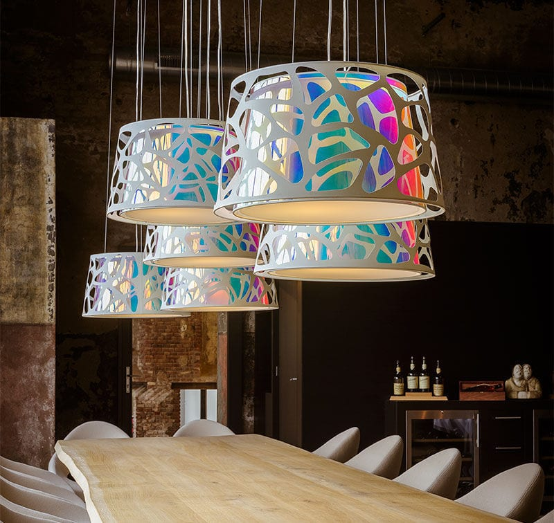 Pendant lamp / contemporary / polyester