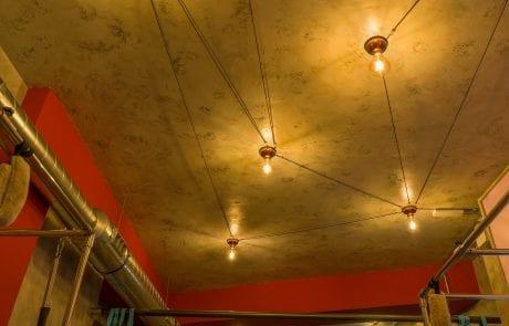 Plafones de techo, decoración iluminativa en Valladolid