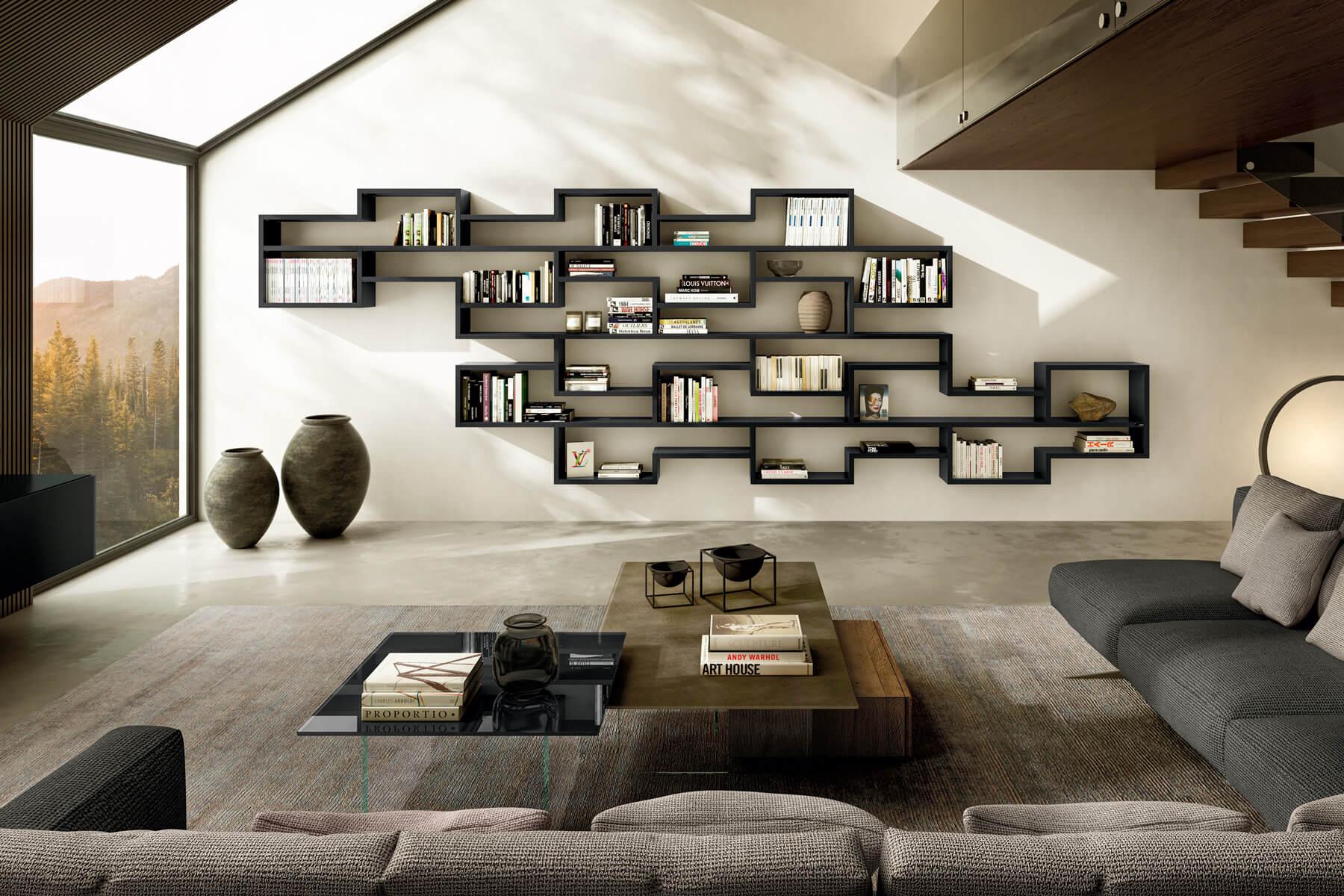 libreria-modulare-soggiorno