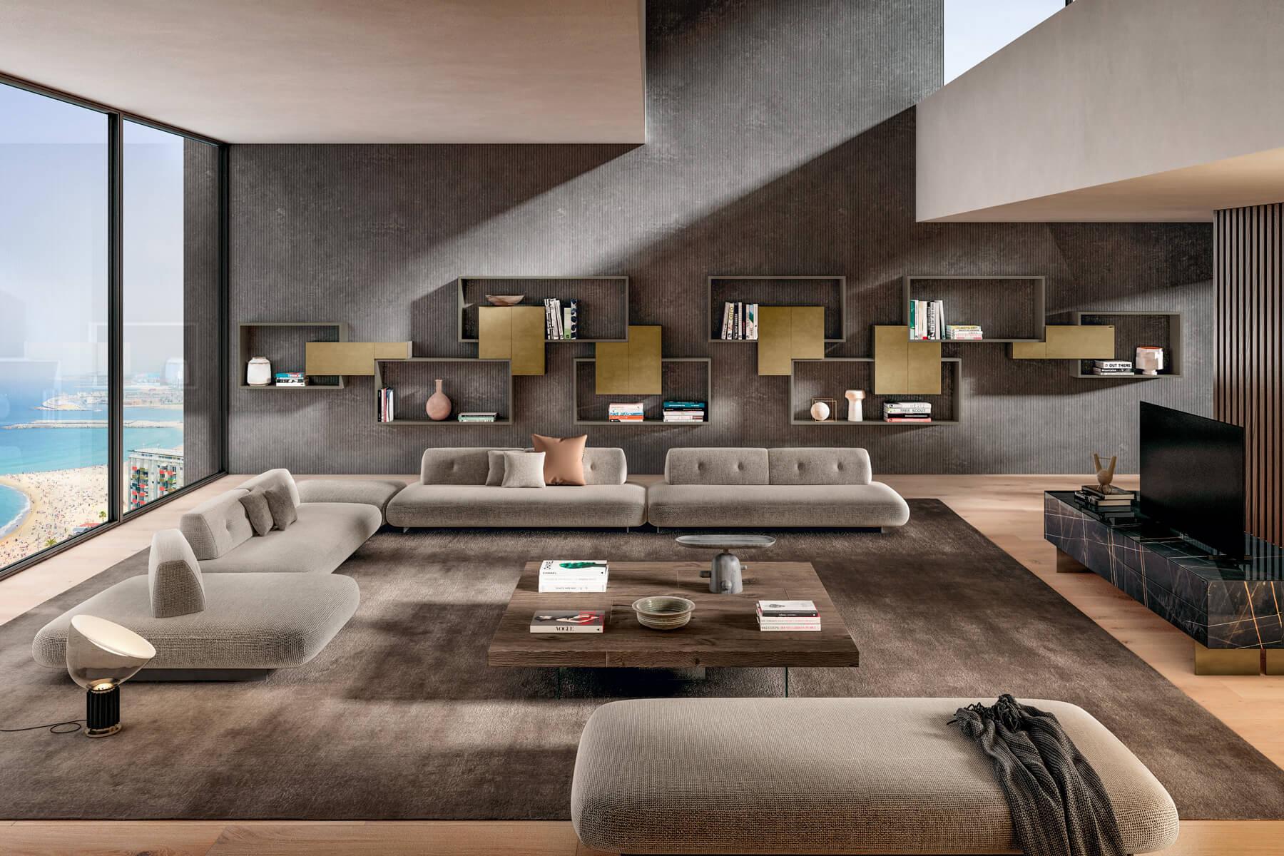 libreria-soggiorno-moderna