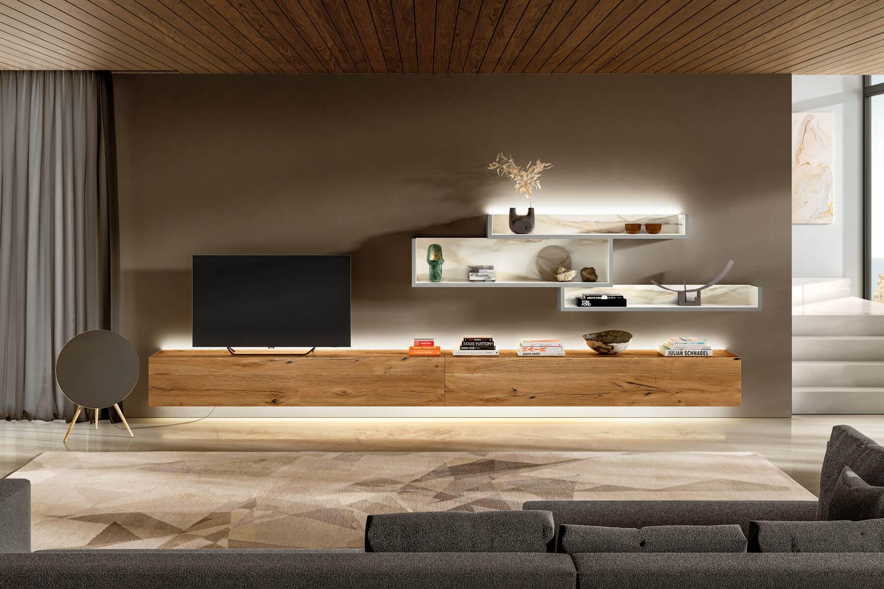 parete-attrezzata-bianca-e-legno